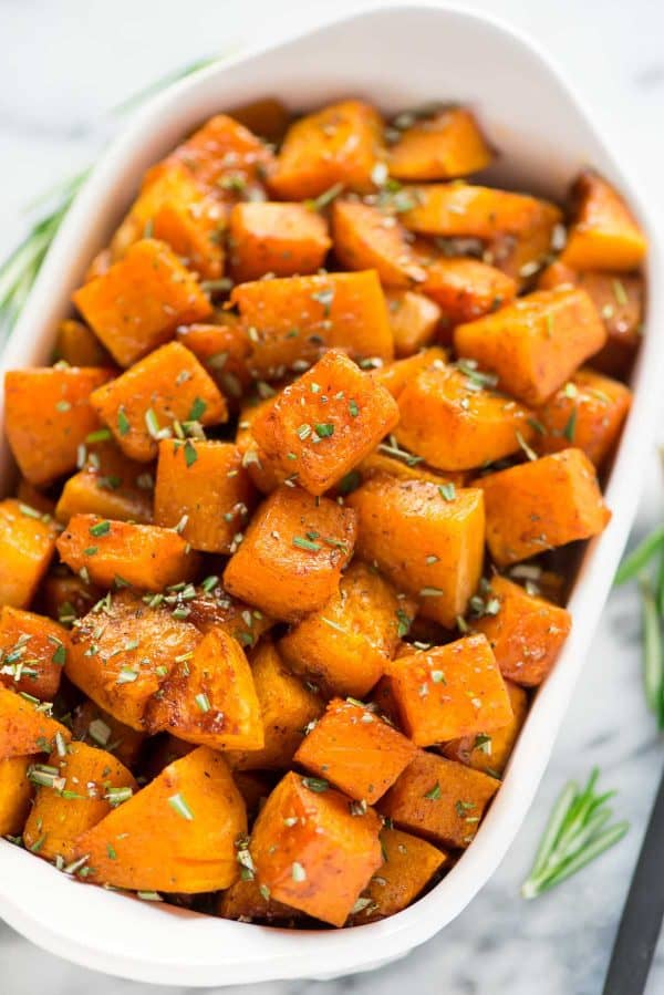 Cooking with butternut squash