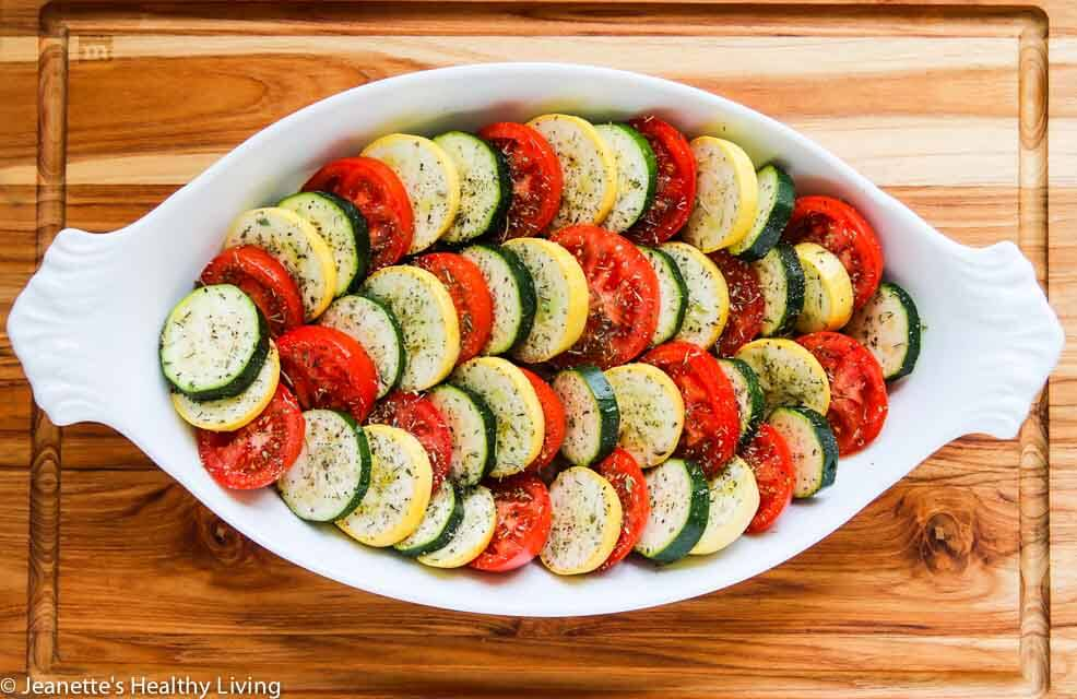 Recipe for baked squash and zucchini