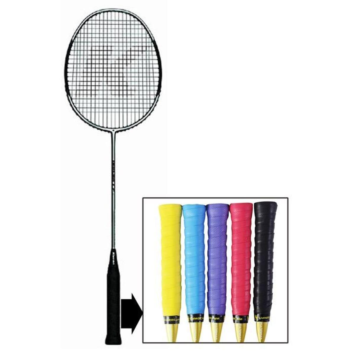 Changement grip raquette badminton